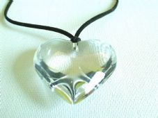 Large chunky crystal heart necklace